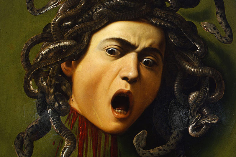 Shield with the Head of Medusa by Caravaggio